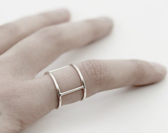 Personal armor 02 - silver ring - minimalist sterling silver band ring