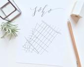 11x14 Calligraphy 'Hood Maps, Soho, New York