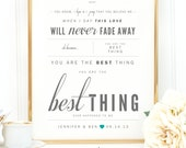 """Gray & Teal, Ray LaMontagne """"You Are The Best Thing"""" - Valentine's, Wedding Gift, Cotton, Paper Anniversary Gift, Song Lyrics, Art Print"""