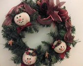 BICOFG, Snowman, Primitive, Wreath