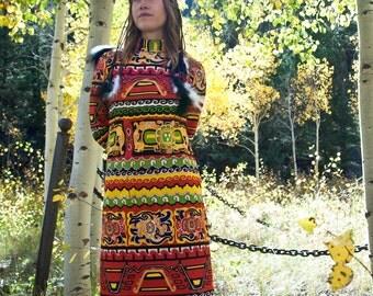 SALE 30% OFF - Fire Goddess Maxi Dress