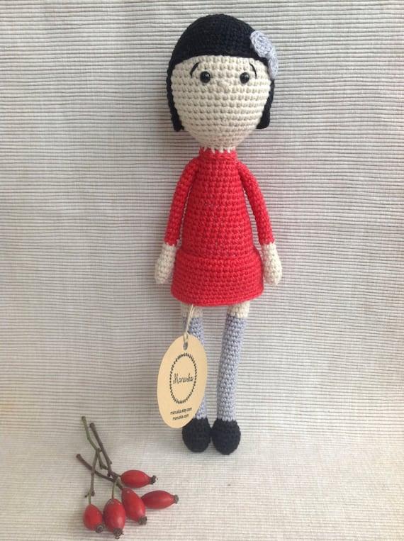 Crochet Amigurumi Doll Clothes : AMELIE Crochet Doll Amigurumi Doll Handmade Doll