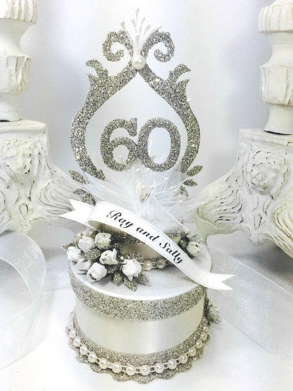 60th Wedding Anniversary Gifts For Friends: 60th Wedding Anniversary Cake Topper Keepsake Box