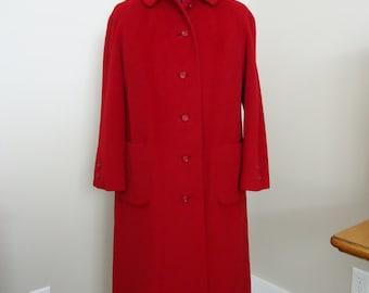 Vintage coat, Retro coat, Vintage jacket, French vintage, trench coat, rain coat, 1950 Little Red Riding Wool coat