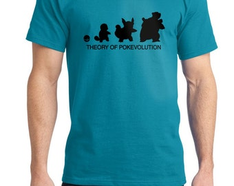 Theory of  Pokevolution Squirtle Tee Shirt