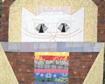 Liberty Coins Cat Quilt Block Pattern