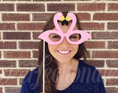 Pink Flamingo Glasses Prop | Beach Party Props | Flamingo Decorations | Flamingo Photo Props | Beach Photo Booth Props