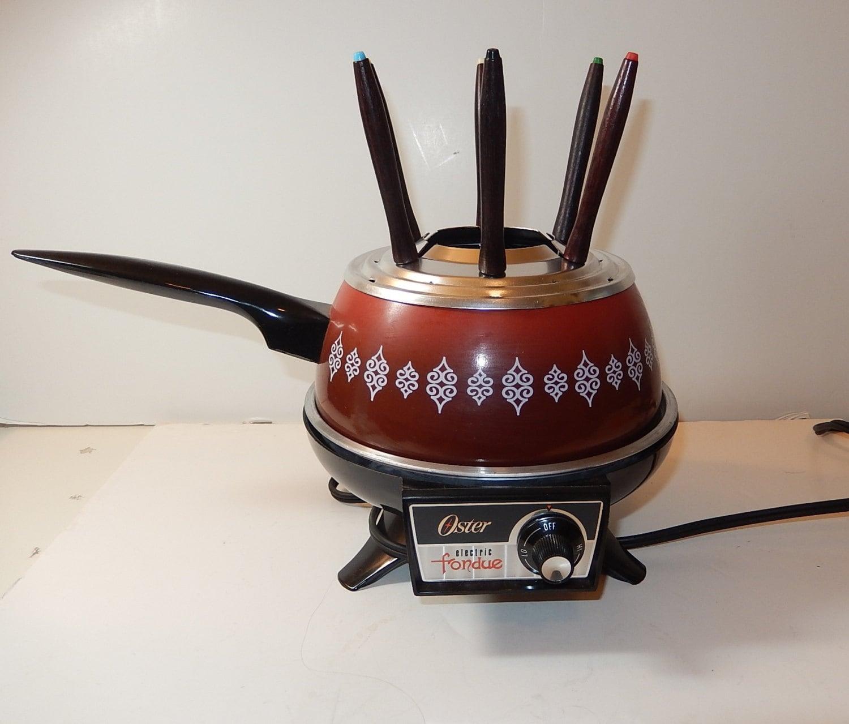 Oster Fondue Pot Vintage Electric Fondue Pot Oster Burnt