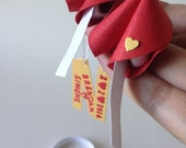 Personalised Red Fortune Cookies For Valentine's Day With Tiny Box