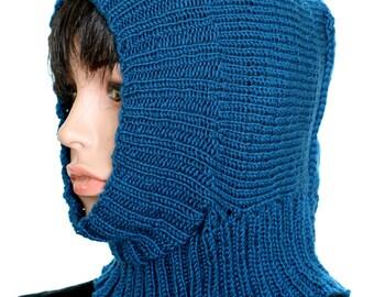 Knitted Helmet Pattern, Knitted Winter Cap Pattern, Ski Mask Tutorial