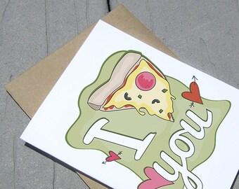 Pizza Valentine Card
