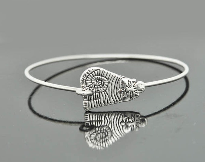 Cat Bangle, Sterling Silver Bangle, Cat Bracelet, Stackable Bangle, Charm Bangle, Bridesmaid Bangle, Bridesmaid jewelry, Bridal Bracelet