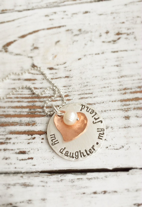 My Daughter My Friend Necklace . Daughter Necklace . Custom Jewelry . Custom Daughter . Personalized Jewelry . Mother Necklace