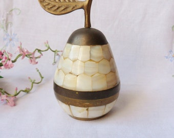 Abalone Pear, Two Piece Abalone Shell Trinket Box