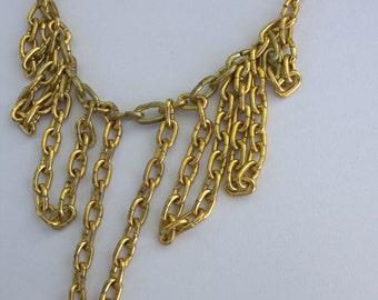 Bib Chain Necklace // Statement Jewelry