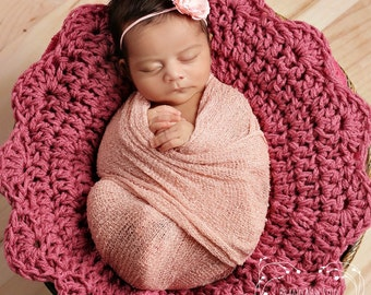 Newborn Photo Prop Posing Crochet Blanket Basket Stuffer