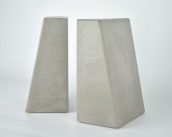 CLEARANCE SALE : Modern Concrete Bookends (Set of 2)