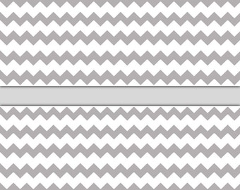 Grey Gray Chevron Wallpaper Border Wall Decal Baby Girl Boy Nursery Childrens Room Kids Bedroom Playroom
