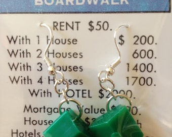 Vintage Monopoly® House Game Piece Earrings