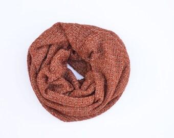 Mens cowl scarf, boyfriend gift, orange blanket scarf, infinity scarf, gift for men, men's scarf, mens clothing, gift for him