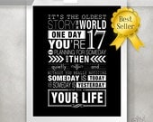 One Tree Hill Quote / Inspirational Quotes / OTH Print - Oldest Story / Black and White / Dorm Room / College Student // 5x7 / 8x10 / 11x14