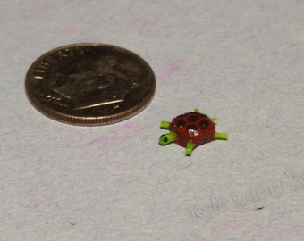 1/4th Quarter inch Scale (1:48) - Dollhouse Micro Miniature Pond Turtle