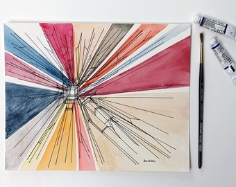 Science Art, Phylogeny, Watercolors paintins original, watercolor, watercolor original, original watercolor, abstract watercolor, evolution