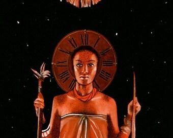 Tribal Spirit Ink and Pastel Illustration Prints