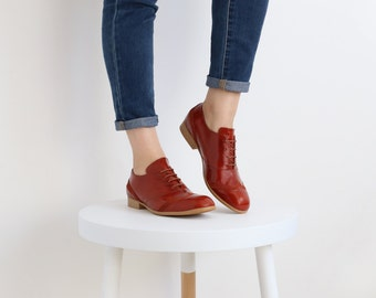 womens oxford shoes , red outdated , free shipping on sale 30% off , ADIKILAV