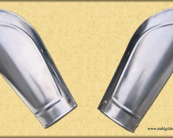 "Larp, fantasy, medieval, steel armour: arm bracers  ""Praetorian"" Premium (two units)"