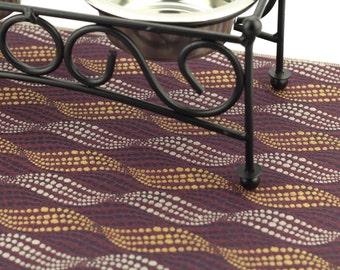 Dog Placemat, Choose Your Size, Waterproof, Non Slip Mat, Pet Placemat, Cat Litter Mat, Splat Mat, Cat Food Mat, Durable Mat, Purple Waves