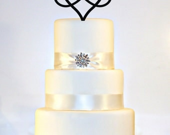 Infinity Open Heart Wedding Cake Topper