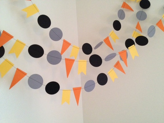 Party Decoration Paper Garland- Construction Birthday Party ...