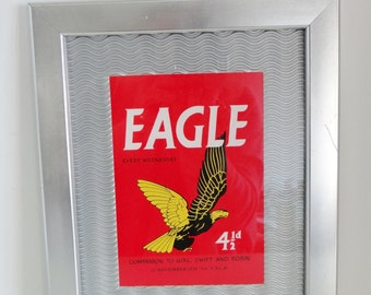 Eagle Comic Cover - 22 November 1958 Vol. 9 No. 47  in Modern Silver Frame