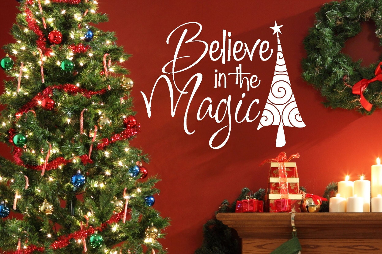 Christmas Decor Christmas Wall Decal Believe Christmas