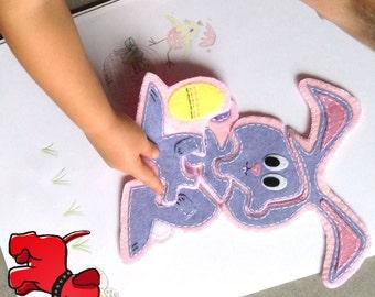 Easter Bunny Felt 5 piece Jigsaw Puzzle Hand Sewing PDF Toy Pattern  Felt Toy