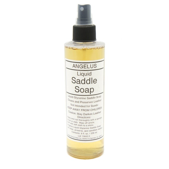 Saddle Soap For Leather Sofa: LIQUID SADDLE SOAP With Glycerine Leather Cleaner Conditioner