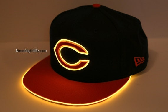Light Up Chicago Bears Snap Back Hat Glow In The Dark Tron