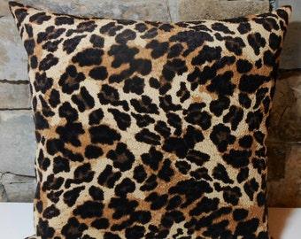 pebbled velvet animal print pillow covercustom pillow cover