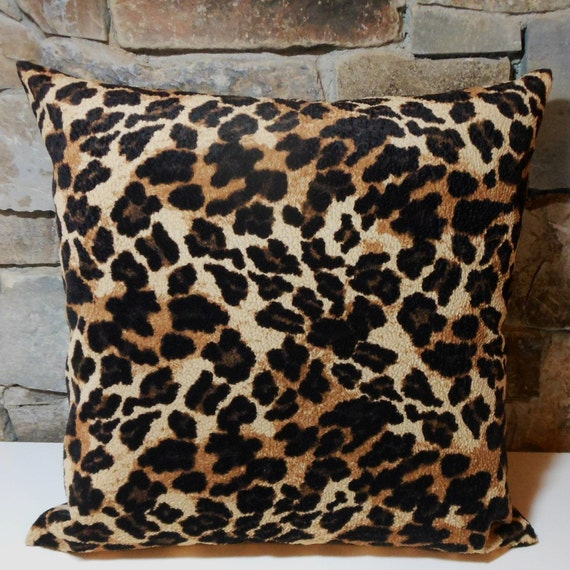 Velvet Animal Print Pillows : Pebbled Velvet Animal Print Pillow Cover//Custom Pillow Cover
