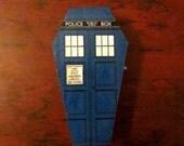 TARDIS-inspired Mini Coffin