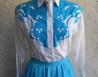Vintage 80s Western Shirt Cowgirl
