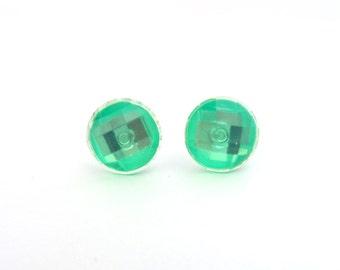 Neon Green Earrings- Women's Earrings- Girls Earrings- 1/2 Inch Earrings