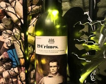 19 Crimes Wine Bottle Light