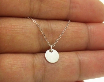 Sterling Silver Simple Tiny Dot Necklace