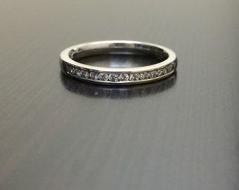 18K White Gold Diamond Wedding Band - 18K Gold Diamond Engagement Band - Channel Set Diamond Band - Diamond Ring - Diamond Wedding Ring