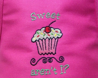 Personalized Embroidered Preschool Toddler K-6 Child Kids Boys Girls CUPCAKE Cooking Baking Apron