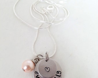 Eventually Hand Stamped Infertility / Adoption Necklace