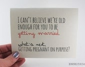 Funny Engagement Card / Humor Congratulations Card / Card for Couple / Engagement Party Gift