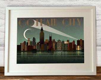 Gotham City Batman Art Print